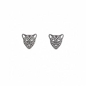 """Panthera"" Head Mini - Stud Earring - Ruthenium"