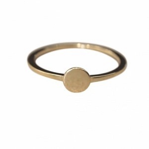 PAILLETTE | Single M - Ring - Gold