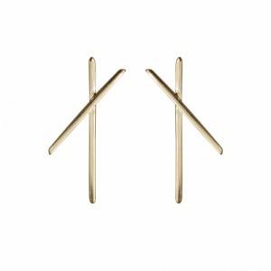 ATMOS   X - Stud Earring - Gold