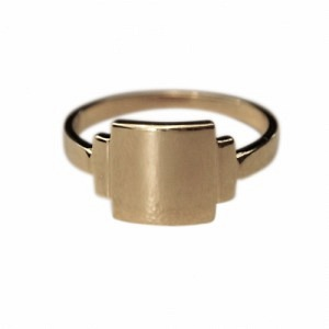 BAGUETTE | Artdéco Signet - Ring - Gold