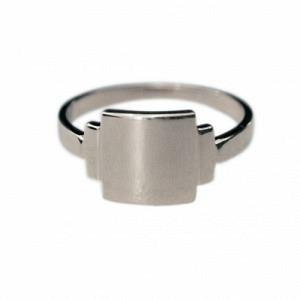 BAGUETTE | Artdéco Signet - Ring - Silver