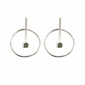 """Atmos"" Source Aventurin - Stud Earring - Silver"