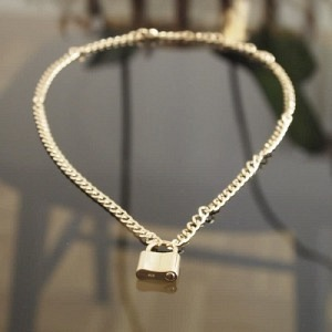 """Curb"" Lock Fellow - Necklace - Gold"