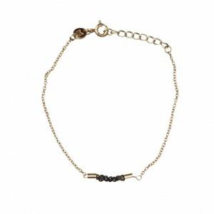 """Rocks"" Black Rough Diamond - Bracelet - Gold"