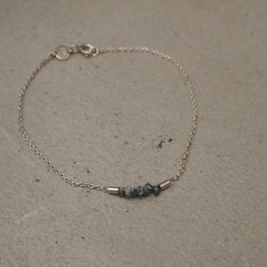 """Rocks"" Blue Rough Diamond - Bracelet - Silver"