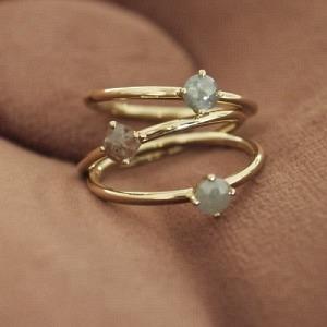 SMILODON | Diamond Rustic M - Ring - 18 Karat Gold