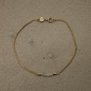 """Rocks"" White Rough Diamond - Bracelet - Gold"