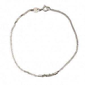 """""""Rocks"""" White Rough Diamond - Bracelet - Silver"""