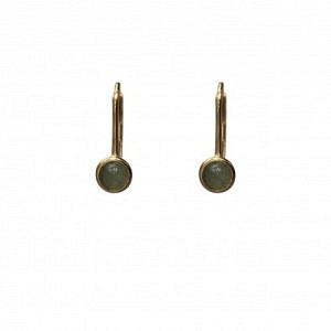 """Petit Point"" Aventurin - Brisur Earring - Gold"