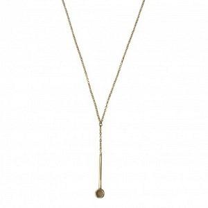 """""""Petit Point"""" Grey Moonstone Sputnik I - Y-Necklace - Gold"""