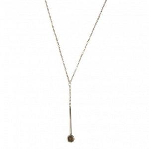 """Petit Point"" Grey Moonstone Sputnik I - Y-Necklace - Silver"