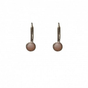 """""""Petit Point"""" Pink Opal - Brisur Earring - Silver"""