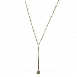"""Petit Point"" Amazonite Sputnik I - Y-Necklace - Gold"