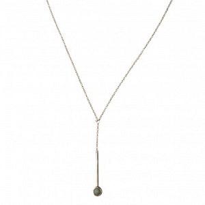 """Petit Point"" Amazonite Sputnik I - Y-Necklace - Silver"