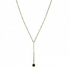 """Petit Point"" Onyx Sputnik I - Y-Necklace - Gold"