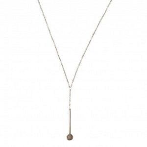 """Petit Point"" Pink Opal Sputnik I - Y-Necklace - Silver"
