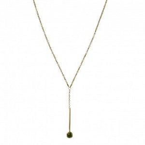 """""""Petit Point"""" Green Jade Sputnik I - Y-Necklace - Gold"""