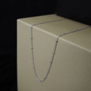 CLEOMETRA | Hexagon Square Satellite - Collier - Silver