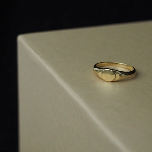 MOON | Signet - Ring - Gold