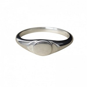 MOON | Signet - Ring - Silver