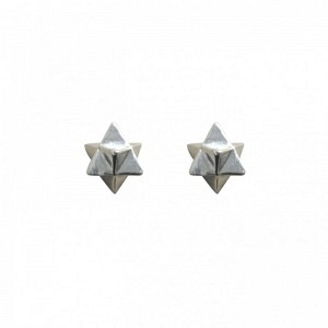 ONEIRO   Stella Octangula - Stud Earring - Silver