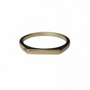 STRIPES&JOIST | Slim Signet - Ring - Gold