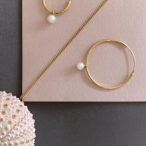 SOPHIE | Nature Pearl 30 - Creole - Gold