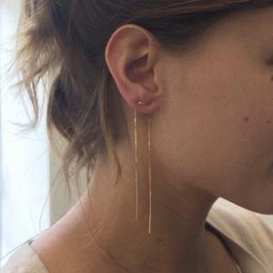 STRIPES&JOIST | Line Long - Earring - Gold