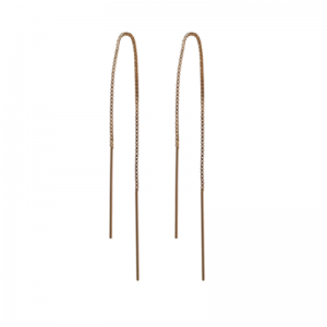 STRIPES&JOIST   Line Medium - Earring - Gold