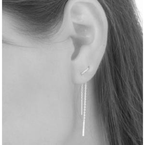 STRIPES&JOIST | Line Medium - Earring - Silver