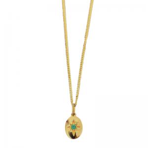 ONEIRO | Polarstar Emerald - Pendant - 18 Karat Gold