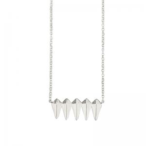 OPALIA | Shield Row - Necklace - Silver