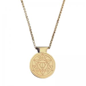 CLEOMETRA | Pyramid Eye - Necklace - Gold