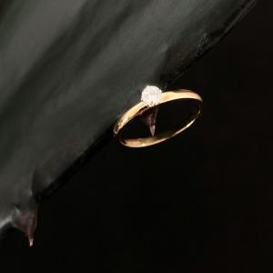 CURVACEOUS | Diamond White - Ring - 18 Karat Gold