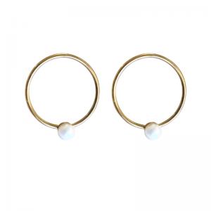 SOPHIE | Nature Pearl Orbit - Stud Earring - Gold