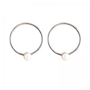 SOPHIE | Nature Pearl Orbit - Stud Earring - Silver