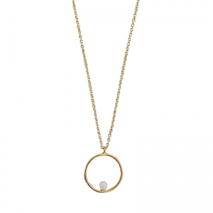 SOPHIE | Nature Pearl Orbit - Necklace - Gold