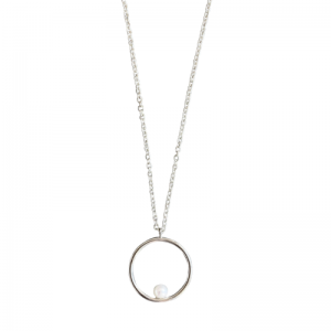 SOPHIE | Nature Pearl Orbit - Necklace - Silver