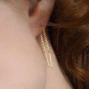 STRIPES&JOIST | Line Mini - Earring - 18 Karat Gold
