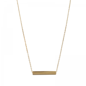 STRIPES&JOIST | Bar Cube - Necklace - Gold