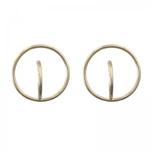 CURVACEOUS | Inside Ouside - Stud Earring - Gold