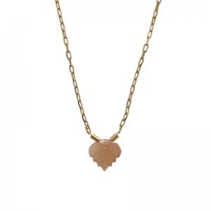 GARDEN EDEN | Foliage Peach - Necklace - Gold