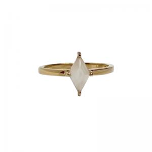 OPALIA   Rhombus White Moonstone - Ring - 18 Karat Gold