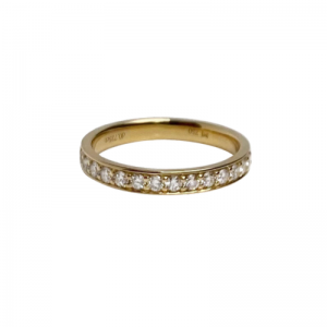 STRIPES&JOIST | Line Infinity (1.8) Diamond White - Ring - 18 Karat Gold