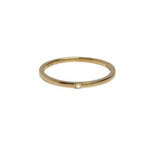 STRIPES&JOIST | Bar One Diamond White - Ring - 18 Karat Gold