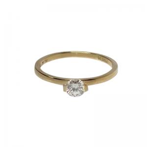 STRIPES&JOIST | Bar Diamond White Solitaire - Ring - 18 Karat Gold