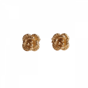 """Garden Eden"" Rose - Stud Earring - Gold"